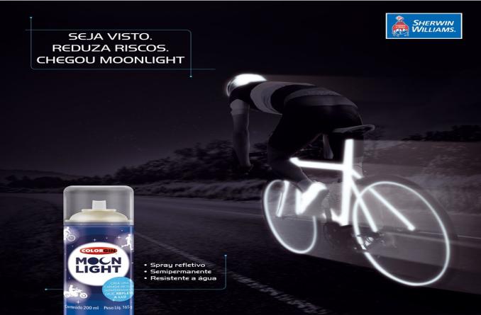 Tinta Refletiva Spray Colorgin Moonlight 200mL